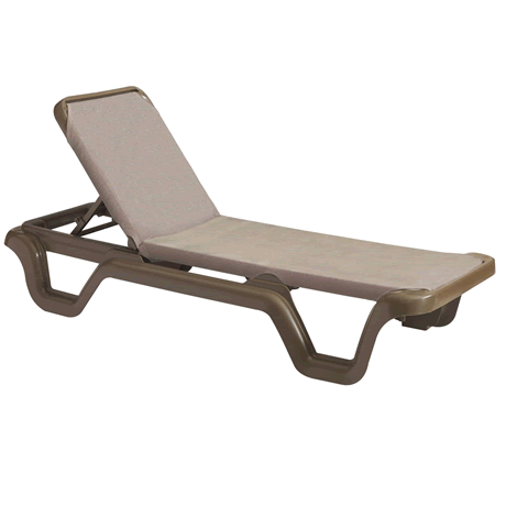 Marina Adjustable Sling Chaise Lounge without Arms