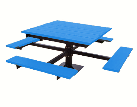 4' T-Table Recycled Plastic Picnic Table