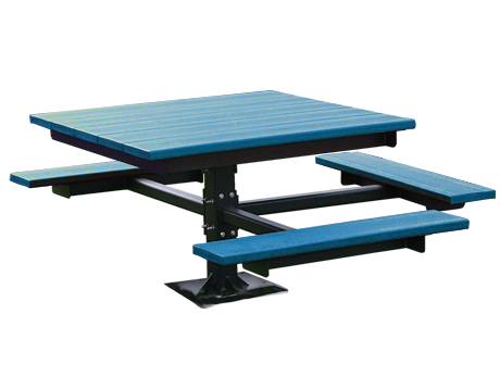 4' ADA T-Table Recycled Plastic Picnic Table