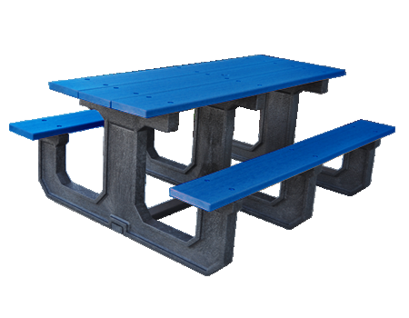 6' Park Place Series Recycled Plastic Picnic Table
