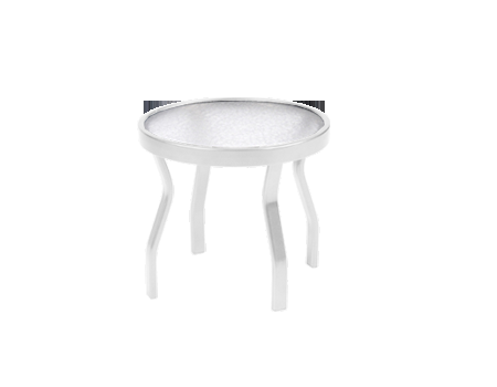 """18"""" Round Acrylic Top Side Table"""