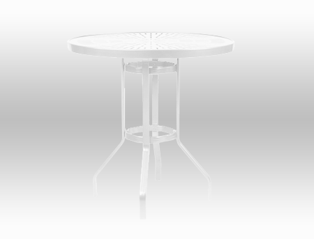 """36"""" Round Punched Metal Top Bar Height Table"""