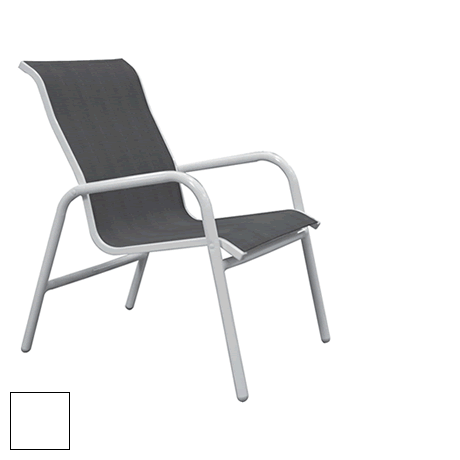Lido Sling Low Back Stackable Dining Chair