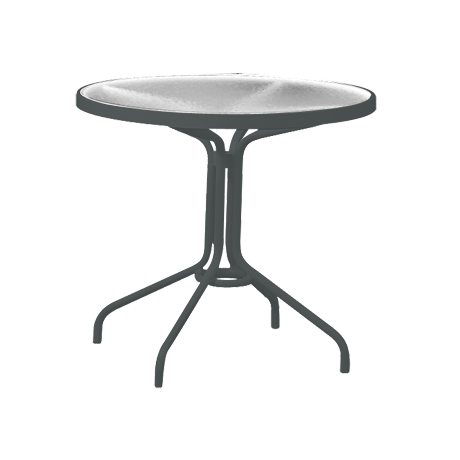 "Acrylic Top 30"" Round Dining Table"
