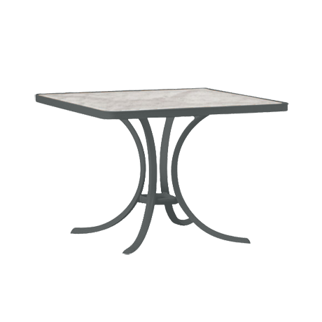 """Acrylic Top 36"""" Square Dining Table"""