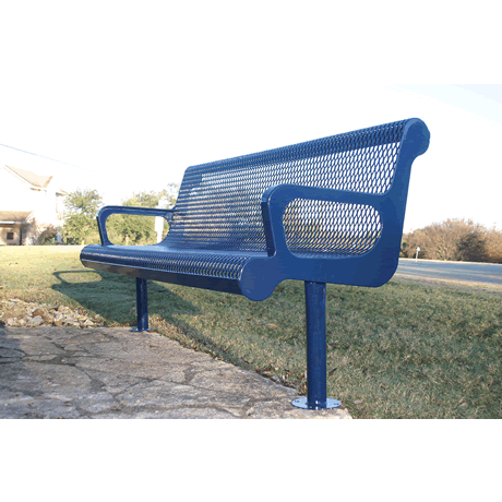4' Lexington Contoured Bench With Back