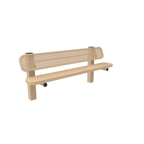 6' Rivendale Pedestal Bench with Back