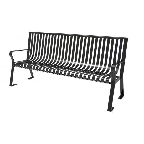 4' Downtown Bench With Straight Back