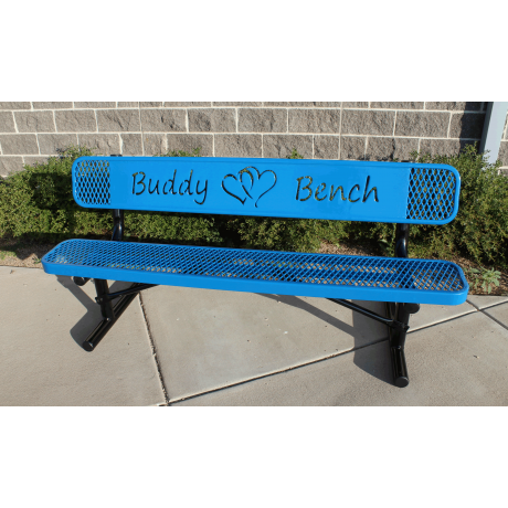 6' Rivendale Buddy Bench with Hearts