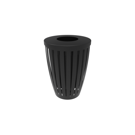 32 Gallon Rivendale Downtown Trash Receptacle with Flattop