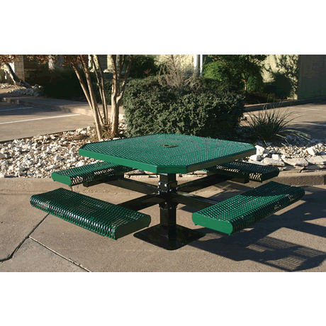 """46"""" Rivendale Octagon Pedestal Table With Rolled Seats"""