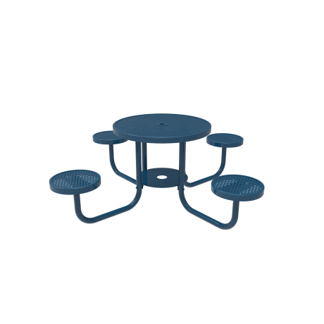"36"" Rivendale Round Portable Patio Table with Attached Seats"