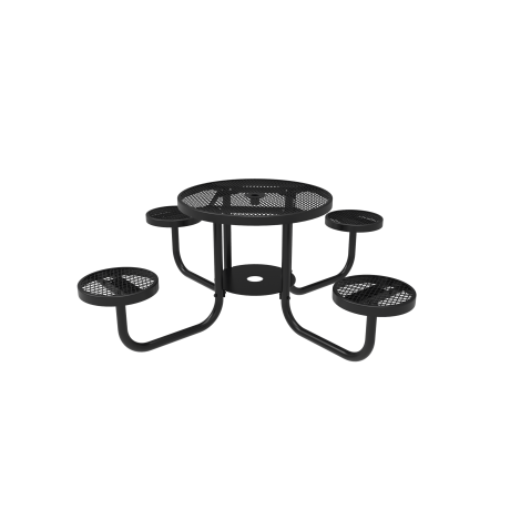 "36"" Lexington Round Portable Patio Table with Attached Seats"