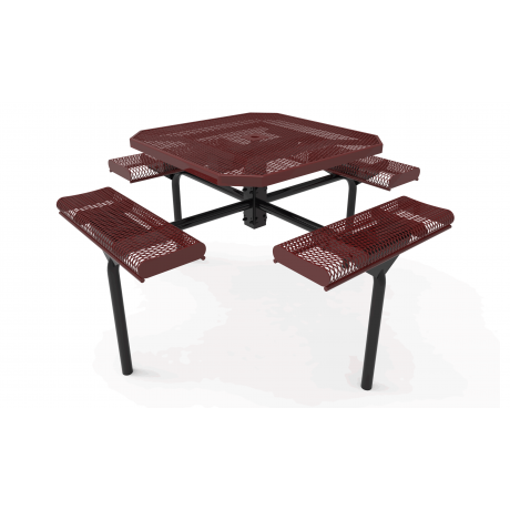 """46"""" Octagon Rivendale-Nexus Pedestal Table With Rolled Seats"""