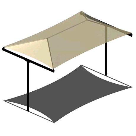 T-Post Hip 10EH x 8x14 Shade Structure