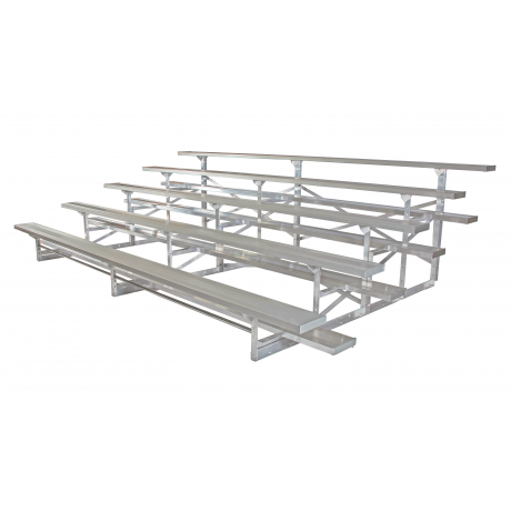 5 Row Deluxe Low Rise Non-Elevated Bleacher with Aluminum Frame