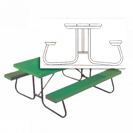 12' St. James Picnic Table Frame (No Top Or Benches)