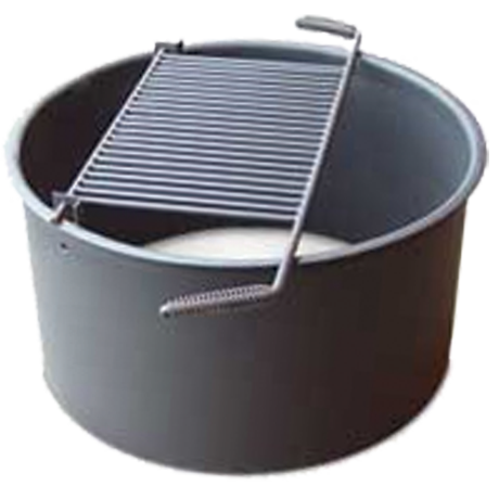 Wheelchair Accessible Fire Ring with Flip-Up Cooking Grate