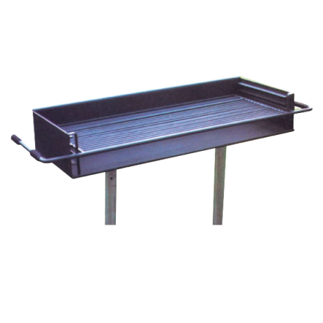 Ocean Bay Group Grill with One Adjustable 4-Position Cooking Grate And Two Galvanized Pedestals