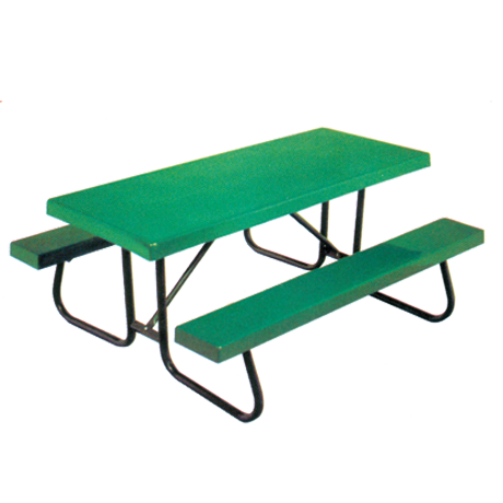 6' St. James Picnic Table with Fiberglass Top And Benches