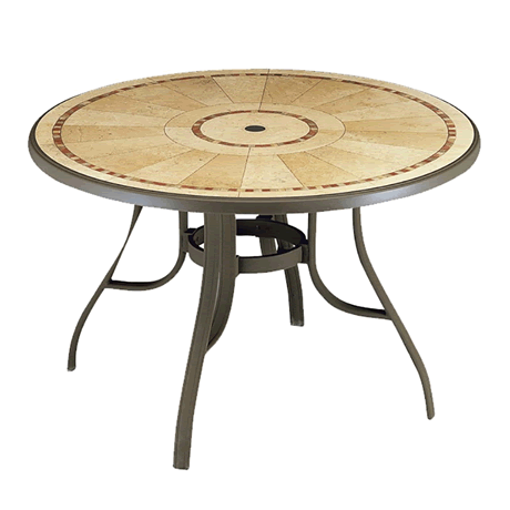 """Louisiana 48"""" Rd Table with Metal Legs"""
