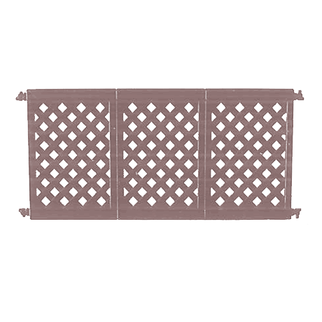 Decorative Patio Fencing 3 Panel Section