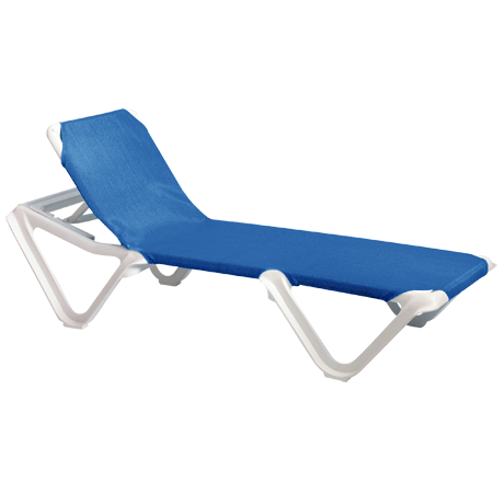 Nautical Adjustable Sling Chaise Lounge without Arms