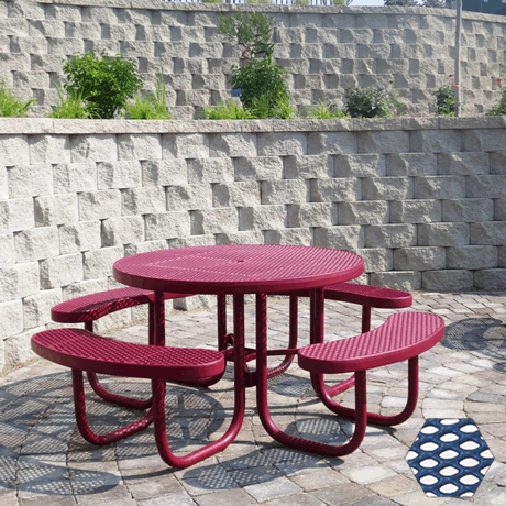Commercial Picnic Table, Plastisol Coated Expanded Metal - Champion Series