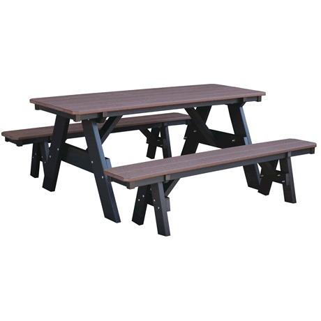 Picnic Table with Unattached Benches