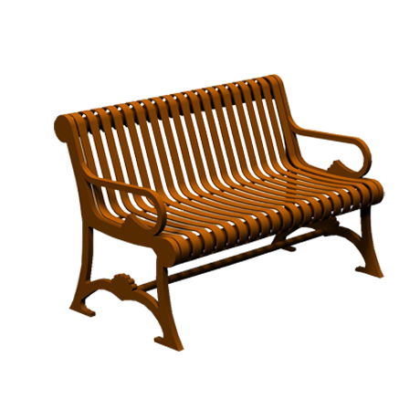 4' Long Bench with Back