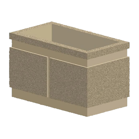 P Series 133x18x20 Rectangular Concrete Planter