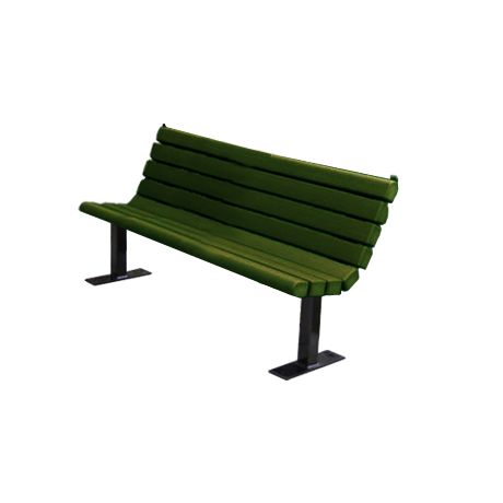 4' Jameson Bench with Black Frame