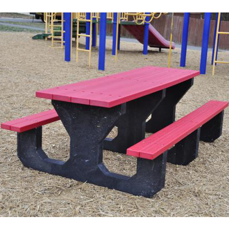 Recycled Plastic Kids Picnic Table - Youth Size