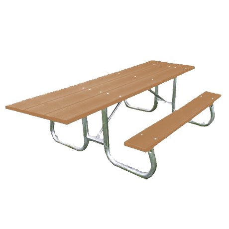 6' Bessemer Stype ADA Recycled Plastic Picnic Table
