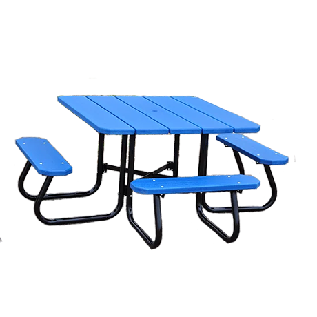4' Square ADA Recycled Plastic Picnic Table