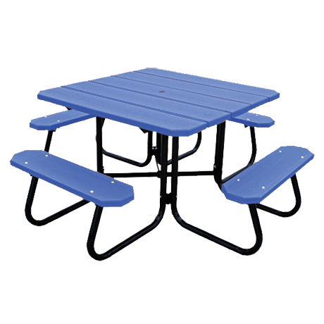 4' Square Recycled Plastic Picnic Table
