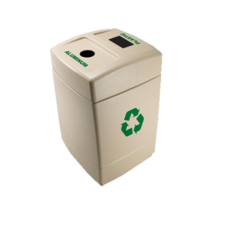 Dual Capacity Recycling Receptacles