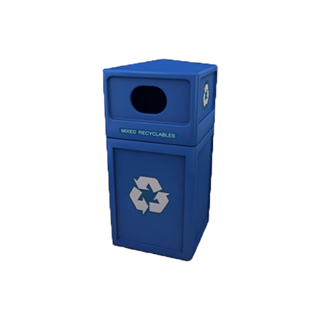 42 Gallon Square Plastic Recycling Container