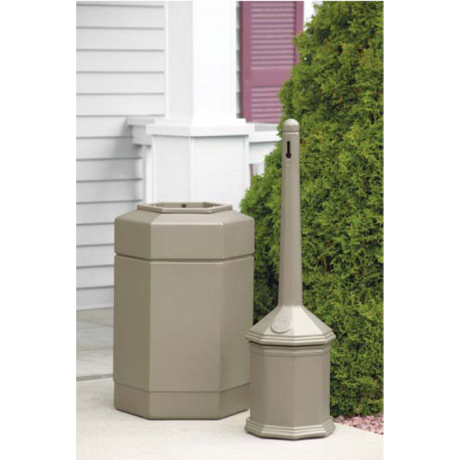 Site Saver Combination, Includes Site Saver Outpost and Receptacle, Color: Sand Granite (Beige), 19 lbs.