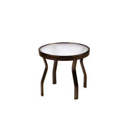 "18"" Round Acrylic Top Side Table"