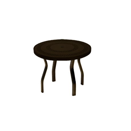 "18"" Round Punched Metal Top Side Table"