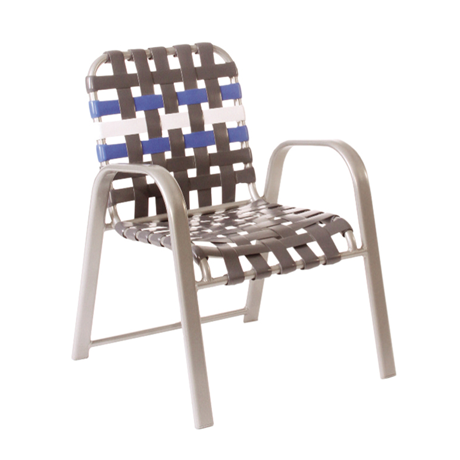 Bonaire Cross Strap Stackable Dining Chair