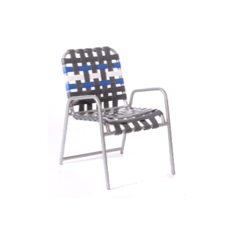 Aruba Cross Strap Stackable Dining Chair