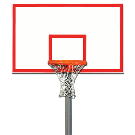 Heavy-Duty Gooseneck Playground Packages, Backboard/Rim/Net and Pole Included, With Border and Target