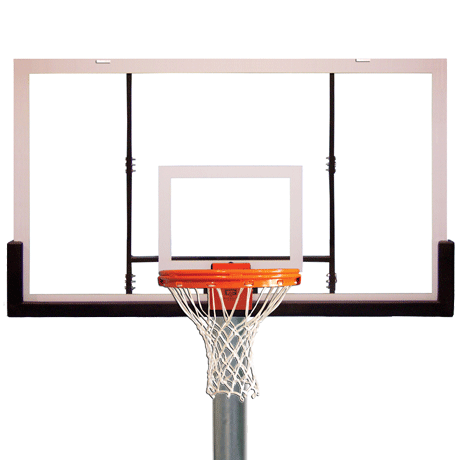 Heavy-Duty Gooseneck Playground Packages, Backboard-Rim-Net and Pole Included, With Border and Target