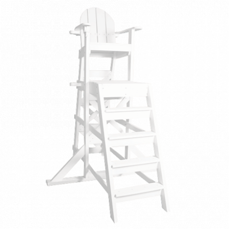 Tall Lifeguard Chair With Front Ladder