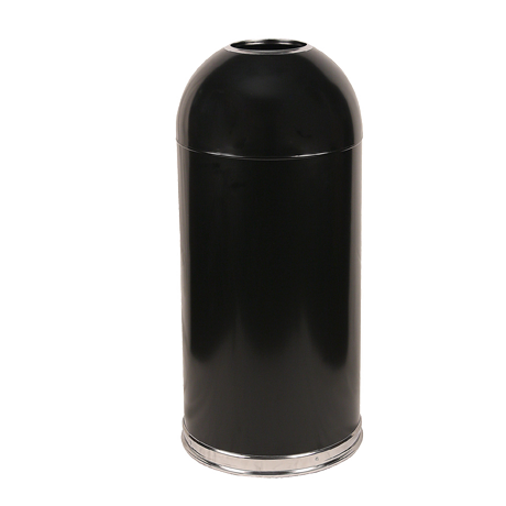 Open Top Dome Receptacle With Galvanized Liner
