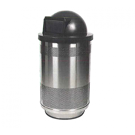 Stadium Series Standard Stainless Steel Receptacle with Choice of Top
