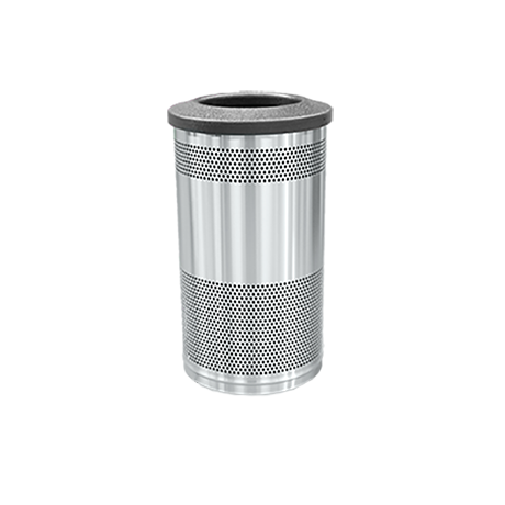 Stadium Series Standard Stainless Stell Receptacle with Flat Top
