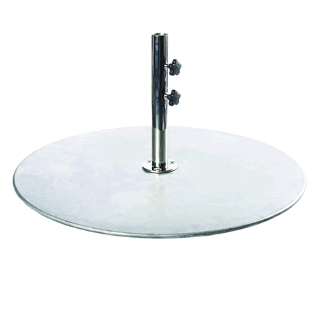 """150 lb. Galvanized Steel Plate With 2"""" Stem for Monaco Series"""